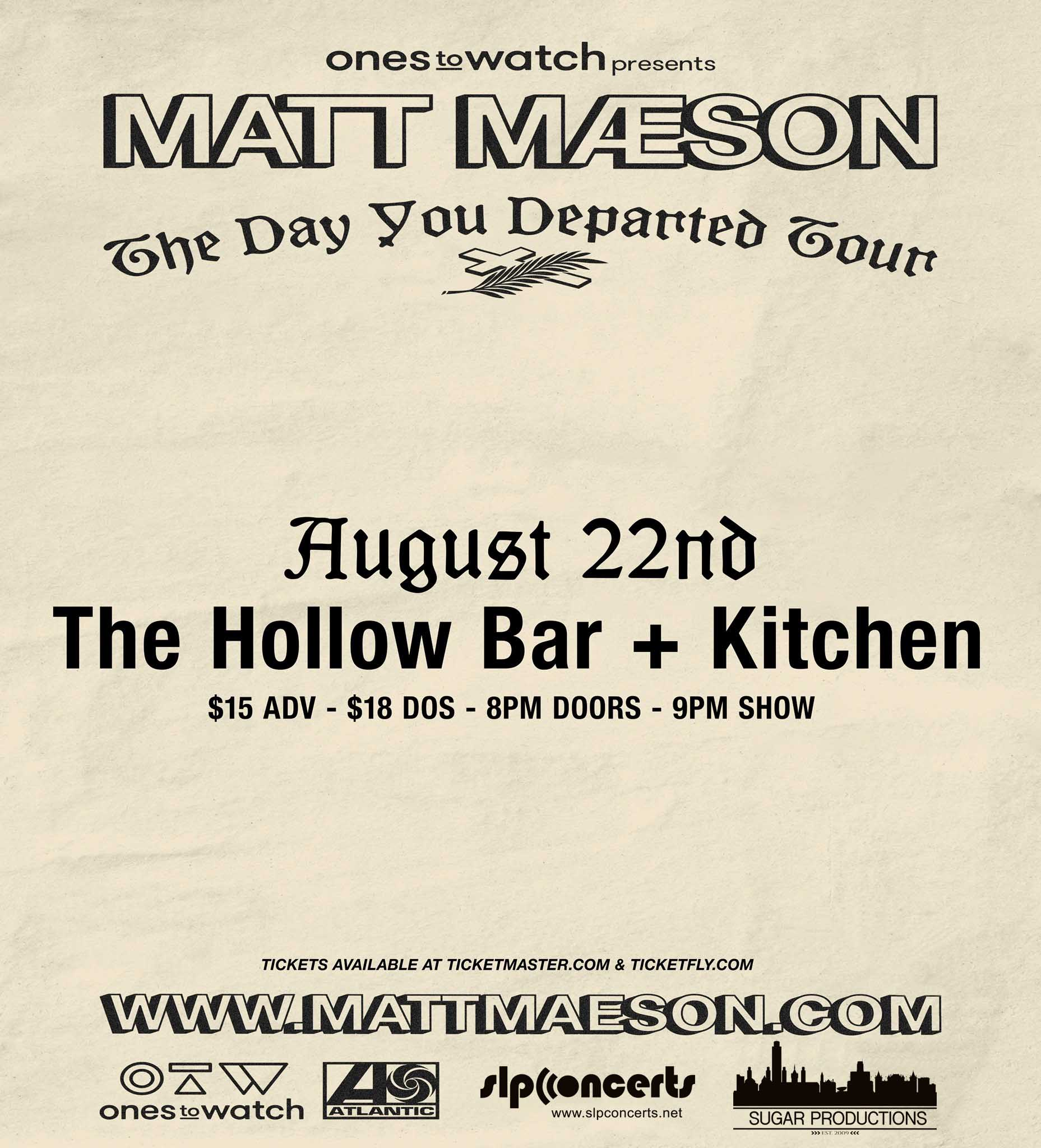 MATT MAESON TDYD TOUR